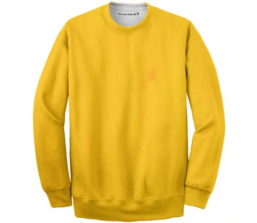 Yellow Paint Wash Sweatshirt