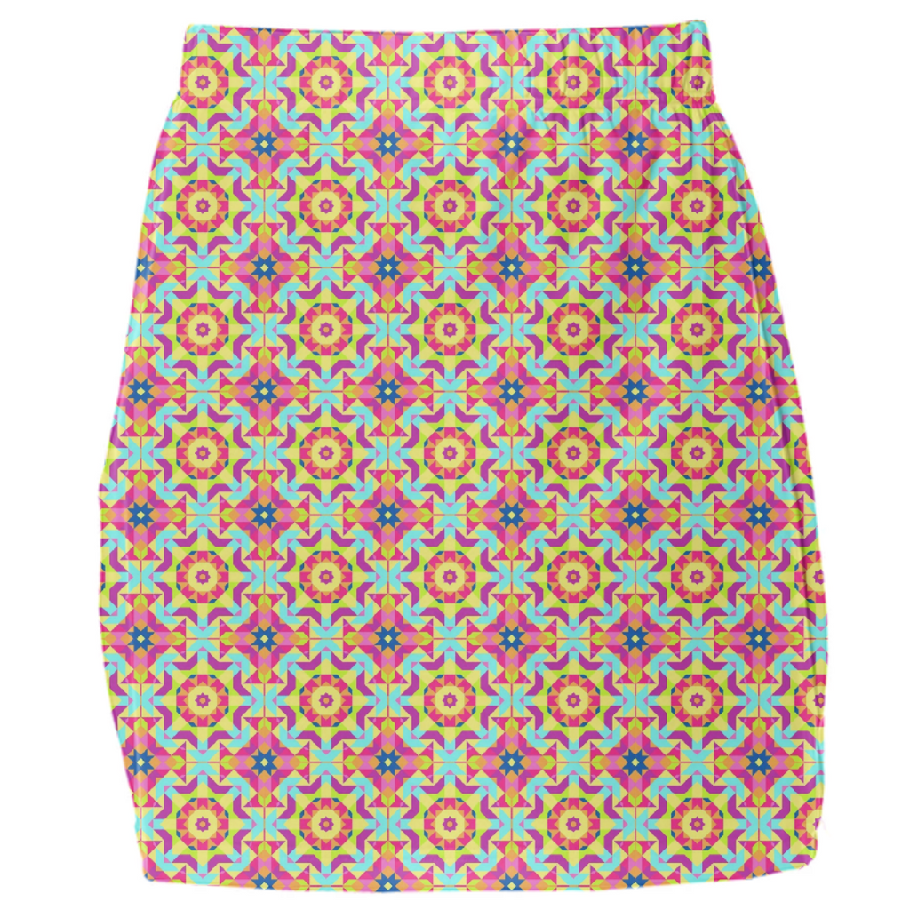 Neon Pattern Mini Tube Skirt #2