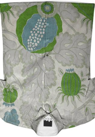 Collard Carnival Grass Buttondown Shirt