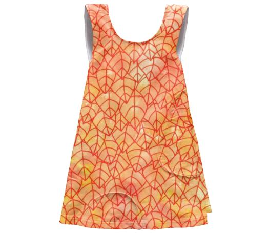 Autumn foliage SSWTR Kids Apron Dress