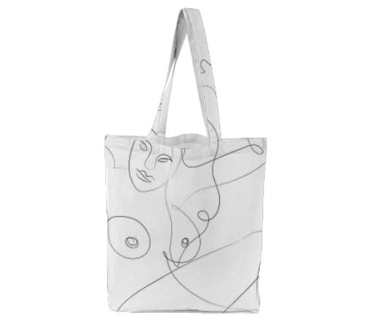PAOM, Print All Over Me, digital print, design, fashion, style, collaboration, marina-esmeraldo, marina esmeraldo, Tote Bag, Tote-Bag, ToteBag, The, Bather, autumn winter spring summer, unisex, Poly, Bags