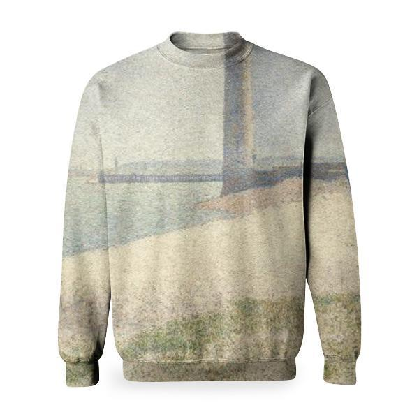 The Lighthouse At Honfleur Basic Sweatshirt