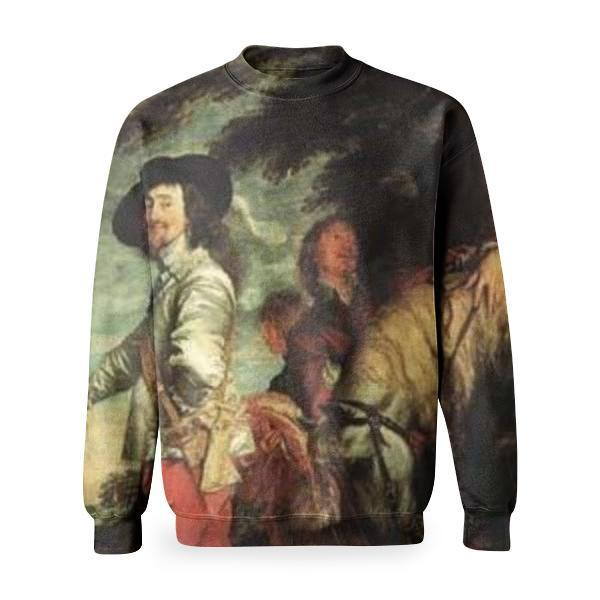 Charles I At The Hunt Basic Sweatshirt