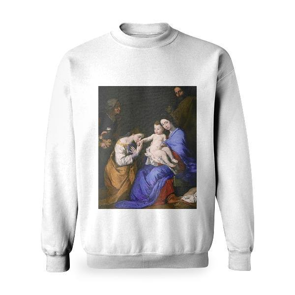 The Holy Family With Saints Anne And Catherine Of Alexandria Basic Sweatshirt
