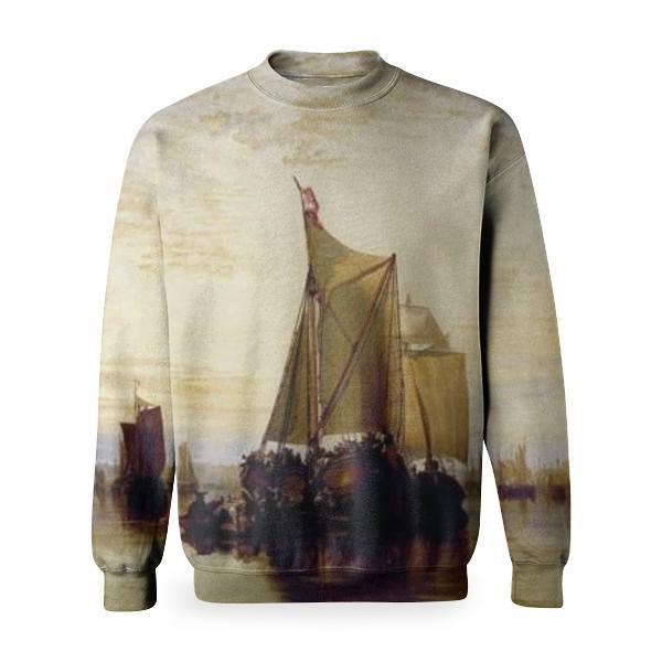 Dort Or Dordrecht The Dort PacketBoat From Rotterdam Becalmed Basic Sweatshirt
