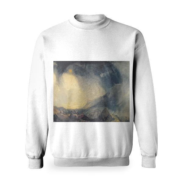 Snow Storm Hannibal And His Army Crossing The Alps Basic Sweatshirt