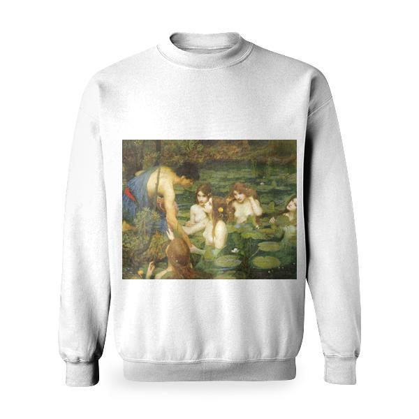 Hylas And The Nymphs Basic Sweatshirt