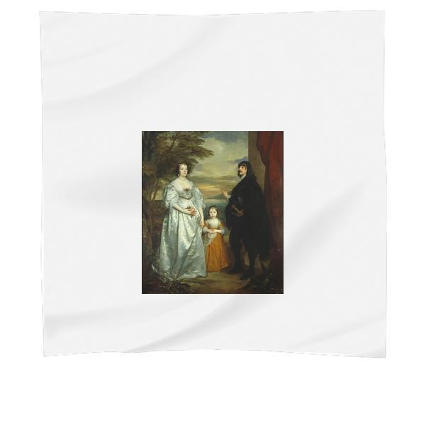 James Seventh Earl Of Derby His Lady And Child Scarf