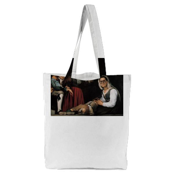 Four Figures On A Step Tote Bag