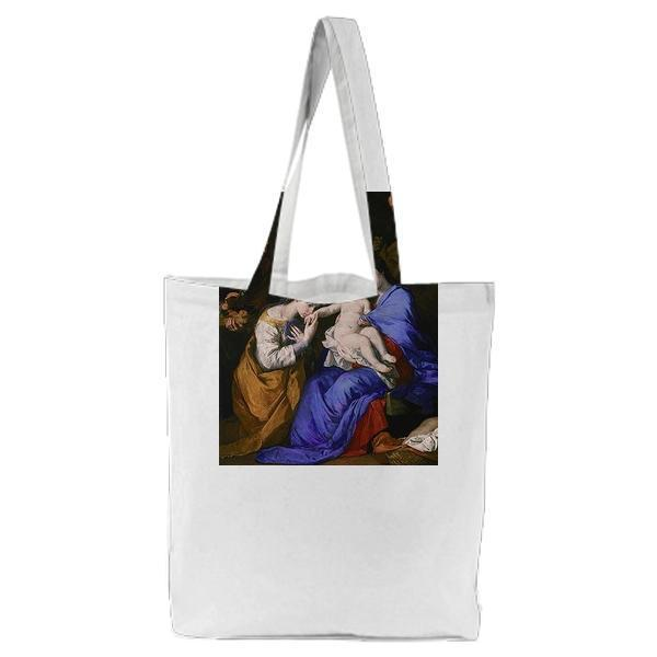 The Holy Family With Saints Anne And Catherine Of Alexandria Tote Bag