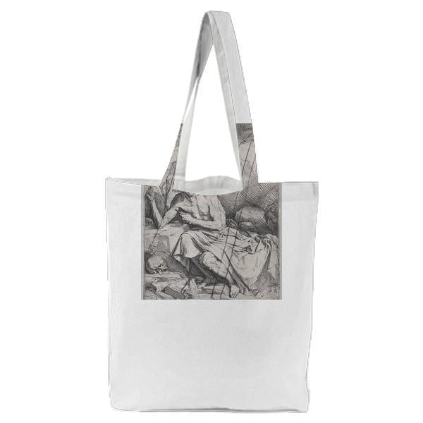 Saint Jerome Hearing The Trumpet Of The Last Judgment Tote Bag