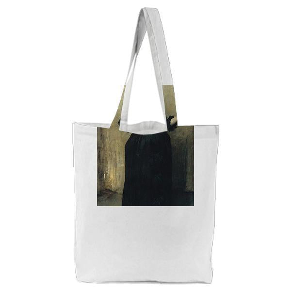 Lady With The Rose Charlotte Louise Burckhardt Tote Bag