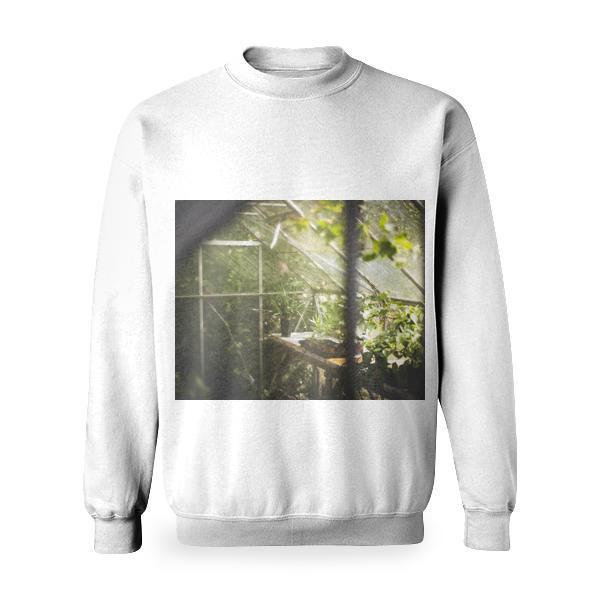 Nature Glass Leaves Plants Basic Sweatshirt