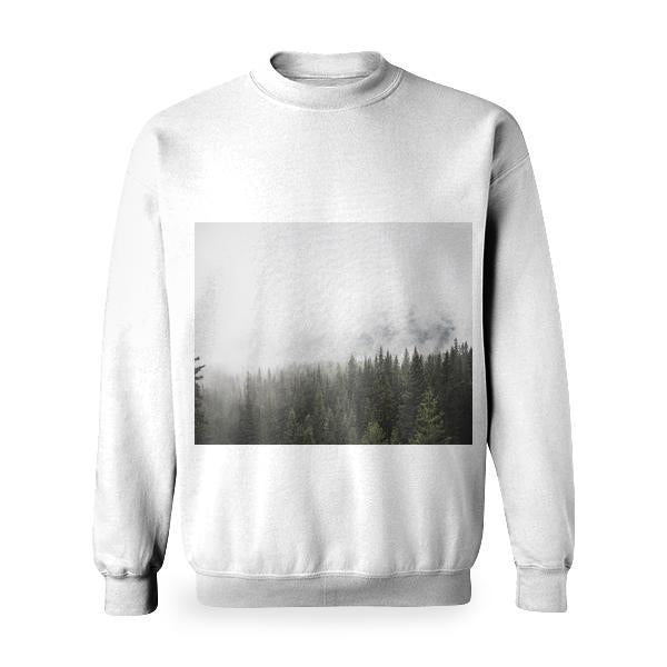Snow Dawn Landscape Nature Basic Sweatshirt