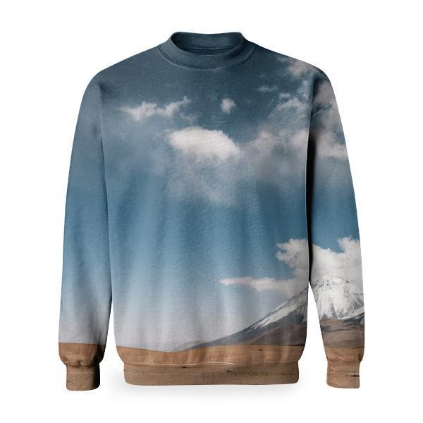 Snow Top Mountains Under Blue Sky With White Clouds During Daytime Basic Sweatshirt
