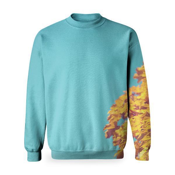Yellow Leave Tree Under Blue Sky During Daytime Basic Sweatshirt