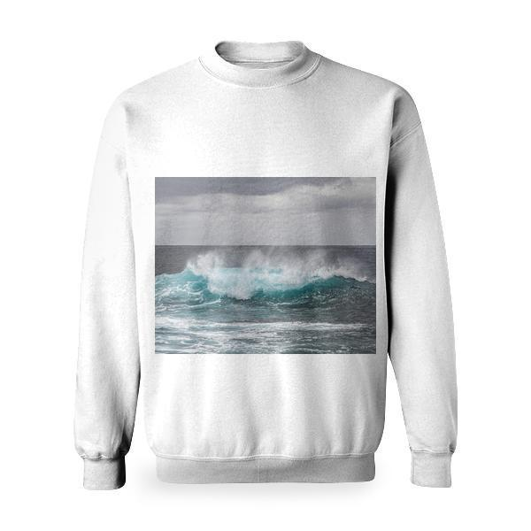 Sea Water Waves During Daytime Basic Sweatshirt