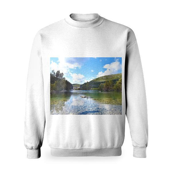Wood Landscape Nature Water Basic Sweatshirt