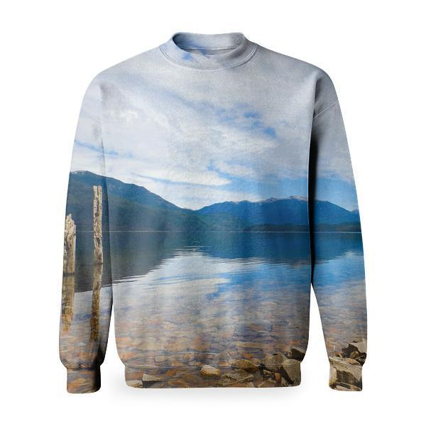 Wood Dawn Landscape Nature Basic Sweatshirt