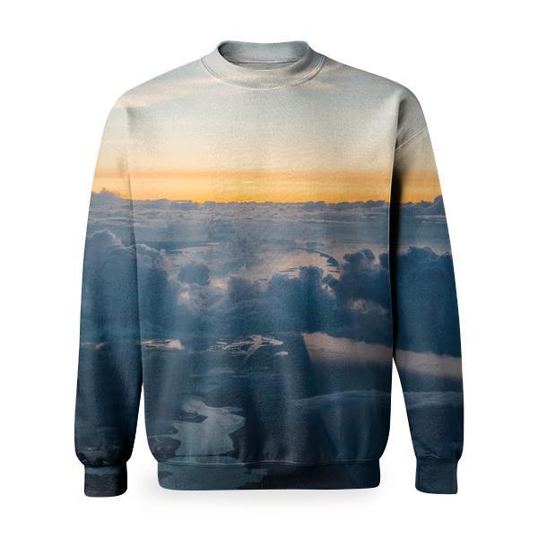 White Clouds And Blue Sky Basic Sweatshirt