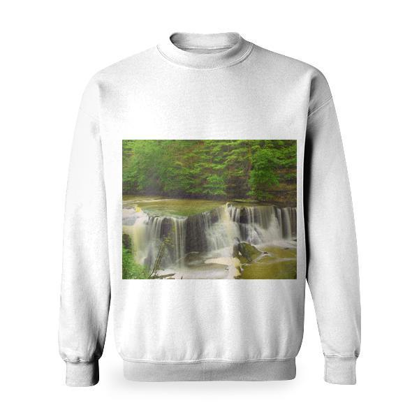 Hd Photography Of River Surrounded With Trees Basic Sweatshirt