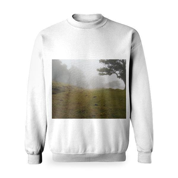 Nature Trees Countryside Hill Basic Sweatshirt
