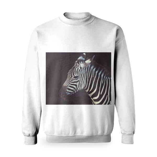 Zebra Animal Basic Sweatshirt