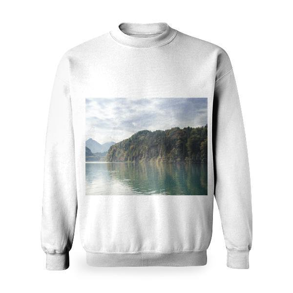 Green Tree Near The Ocean Basic Sweatshirt