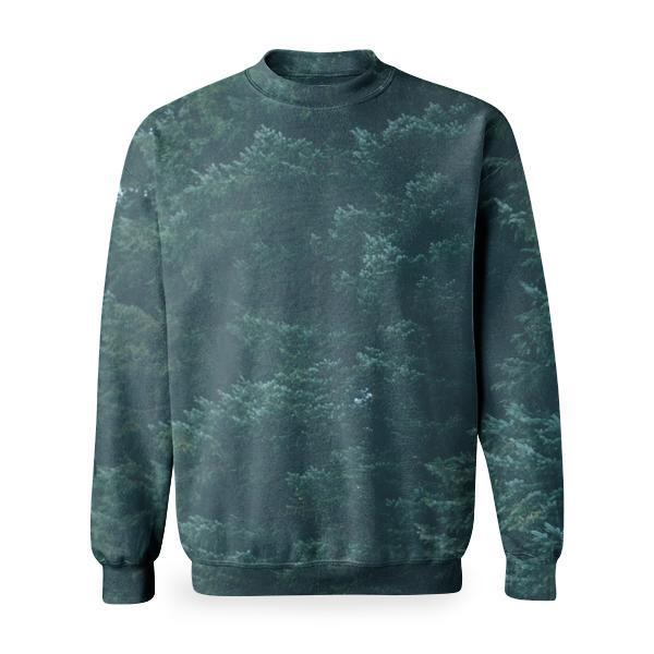 Wood Nature Dark Forest Basic Sweatshirt