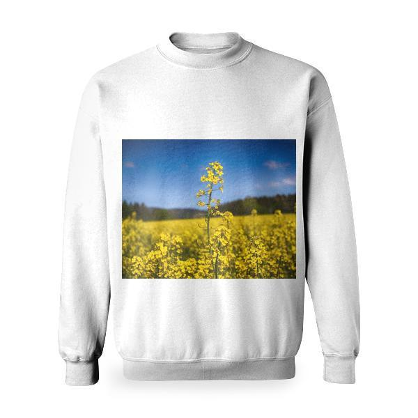 Nature Sunny Field Plants Basic Sweatshirt