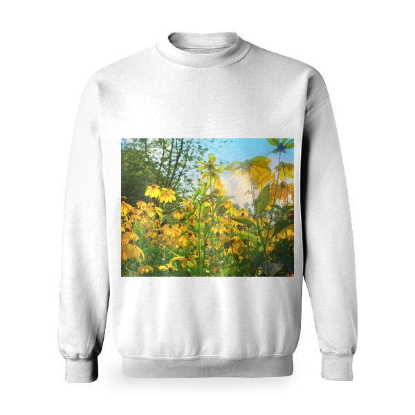 Yellow Petaled Flower Bloom During Daytime Basic Sweatshirt