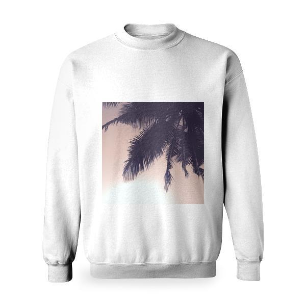 Silhouette Of Coconut Tree Basic Sweatshirt