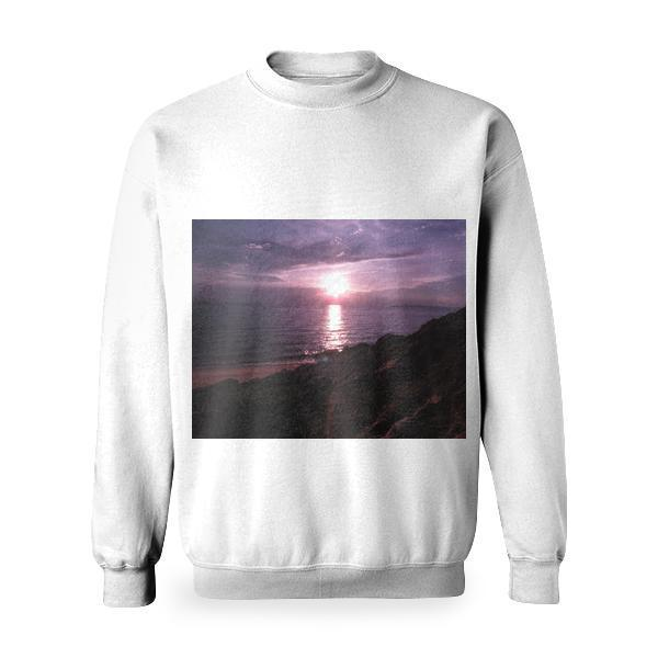 Sunset View On Body Of Water Basic Sweatshirt