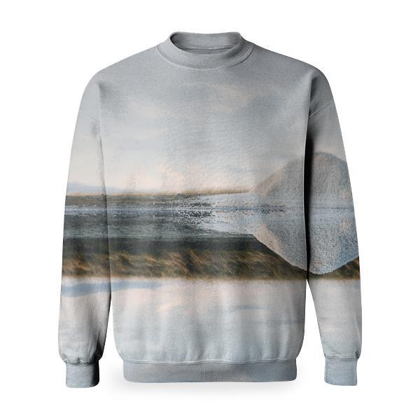 White Iceberg On Body Of Water Basic Sweatshirt