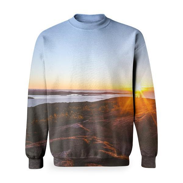 Sea Dawn Landscape Nature Basic Sweatshirt