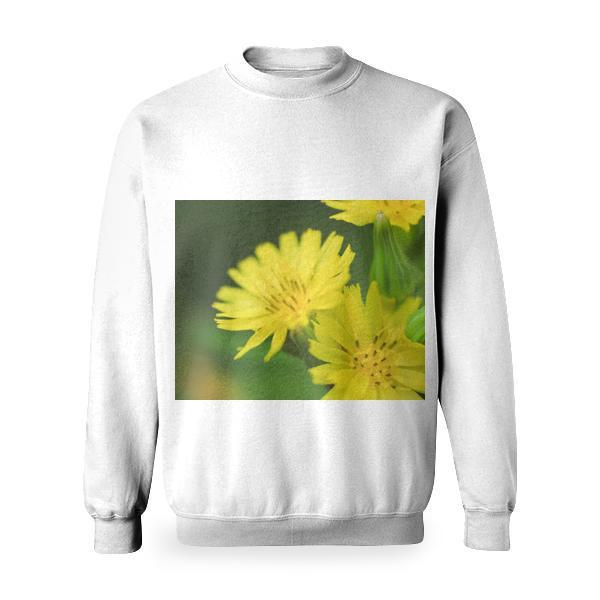 Yellow Petal Flower Basic Sweatshirt