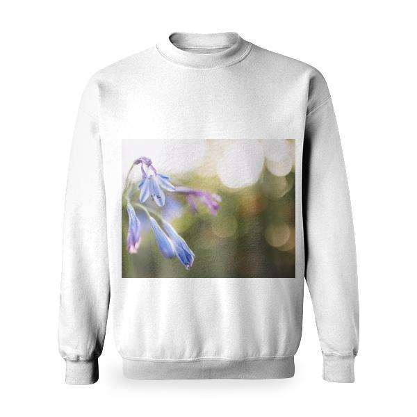 Flower On Bukeh Photograph Basic Sweatshirt