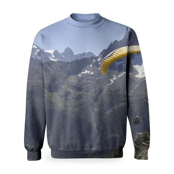 Yellow Paraschute Basic Sweatshirt