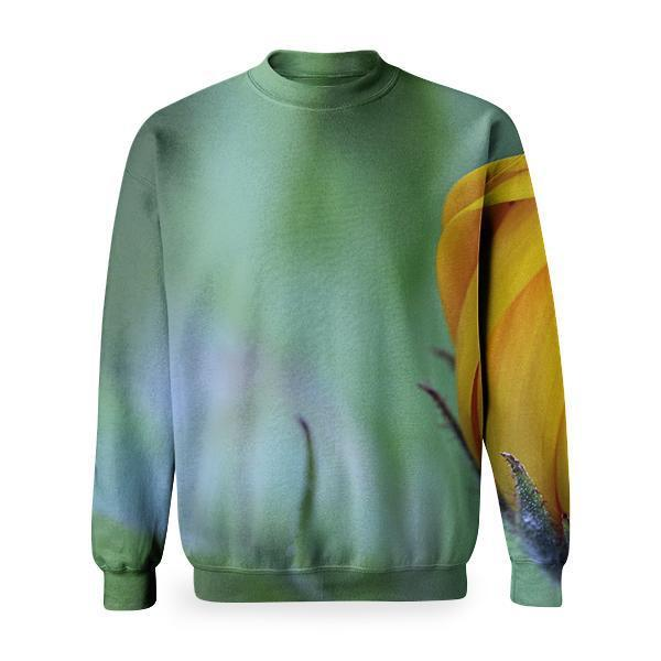 Yellow Flower Bud During Day Time Basic Sweatshirt