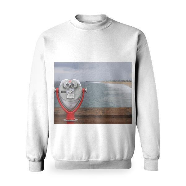 Silver And Red Pier Telescope Basic Sweatshirt