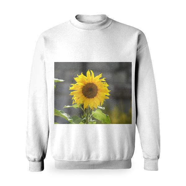 Yellow Sunflower Basic Sweatshirt