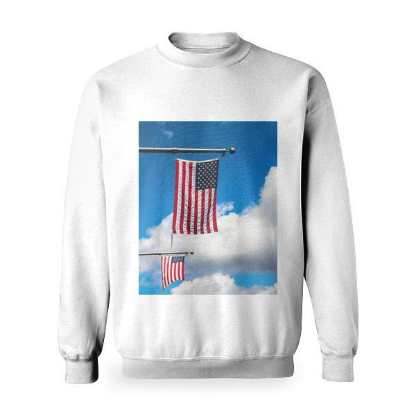 Nature Sky Clouds Flags Basic Sweatshirt