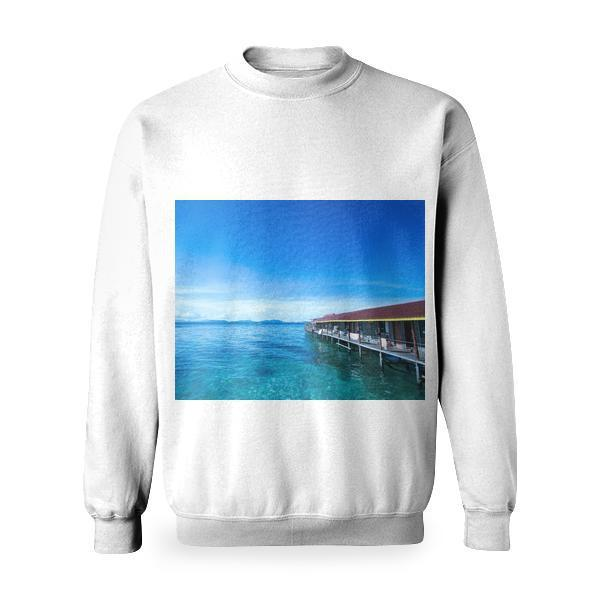Wooden Pier Building Basic Sweatshirt