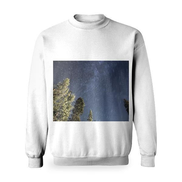 Star Trails At Night Astrophotography Basic Sweatshirt