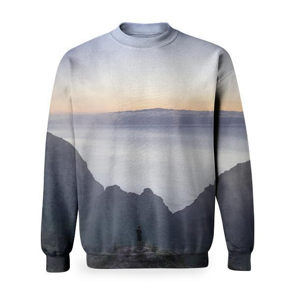 Mountains Nature Hiking Travel Basic Sweatshirt