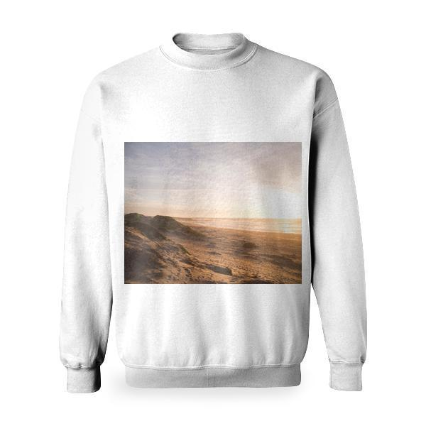 Sea Coast During Sunrise Basic Sweatshirt