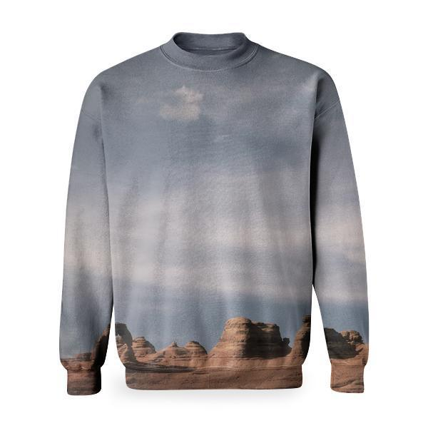 White Cloudy Sky Over The Grand Canyon Basic Sweatshirt