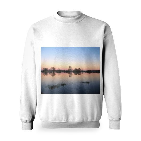 Panoramic Photography Of Trees Under Clear Bluy Sky Durign Daytime Basic Sweatshirt