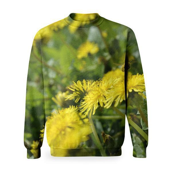 Yellow Petal Flower In Selective Focus Photo During Daytime Basic Sweatshirt