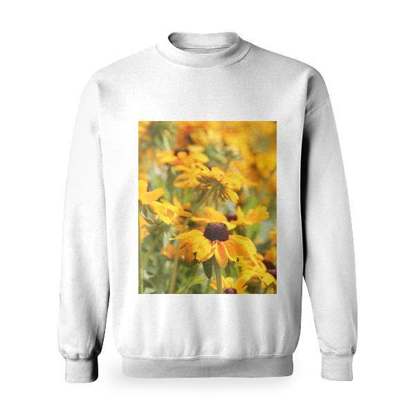 Yellow Petaled Sunflower Basic Sweatshirt